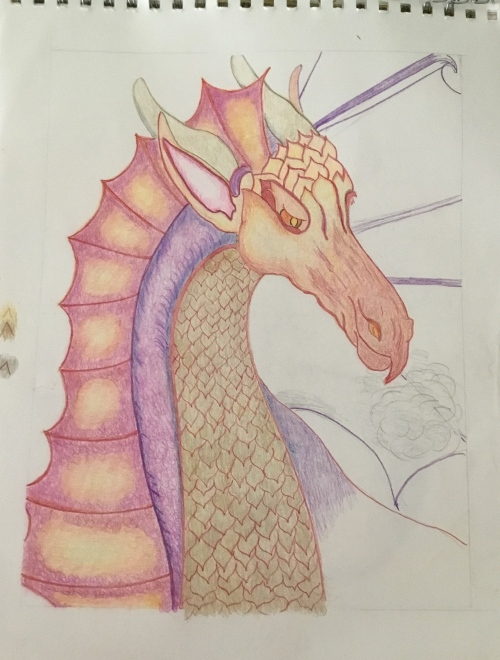 Color dragon by Cyndee Pelley