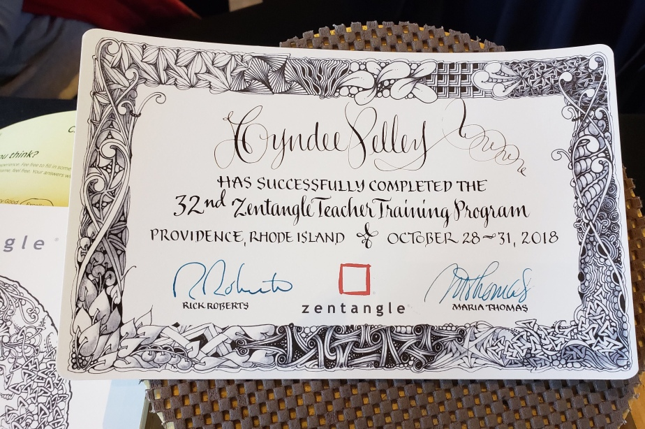 Certified Zentangle ® Teacher Training and CZT 32