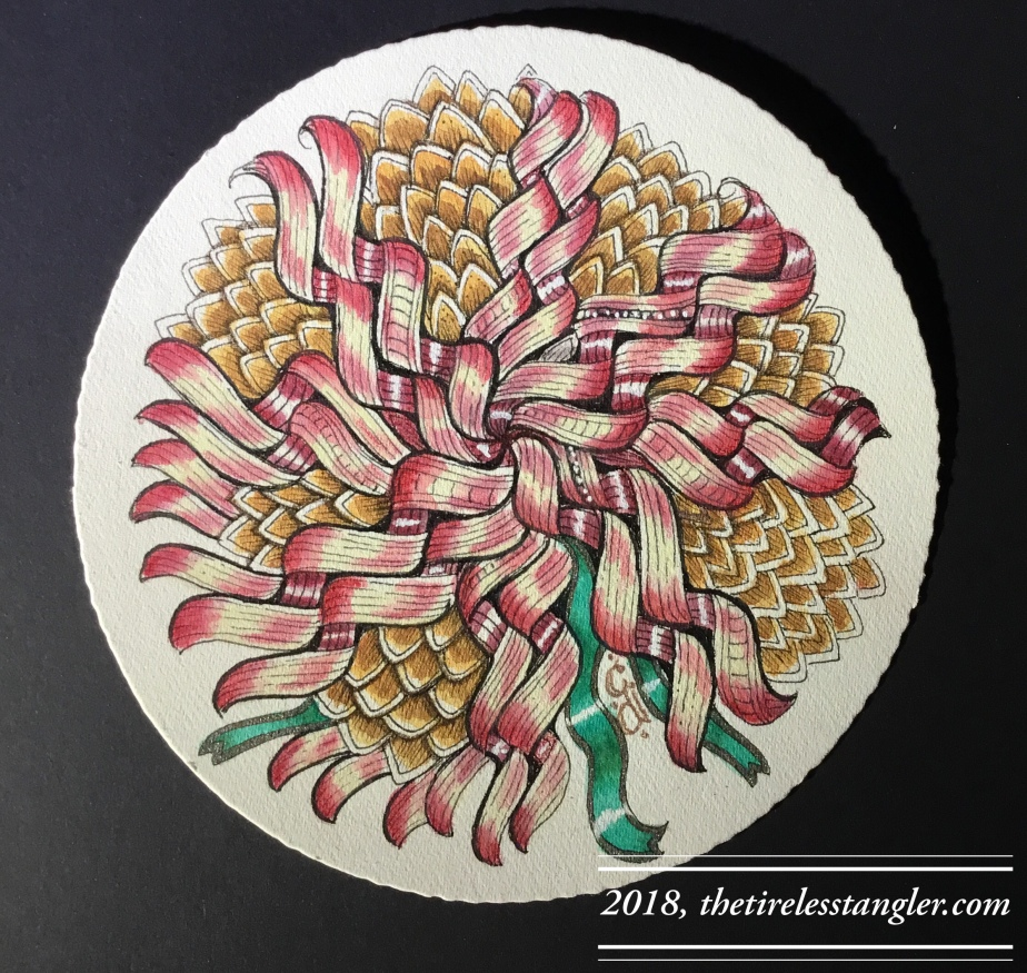 Diva Challenge 379 and 12 Days of Zentangle Day 8